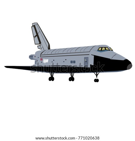 space plane Buran made in the USSR in the twentieth century