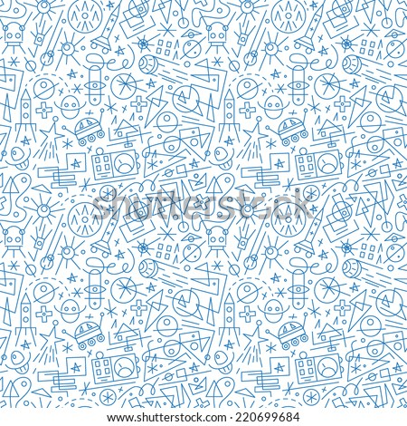 space  seamless background - stock vector