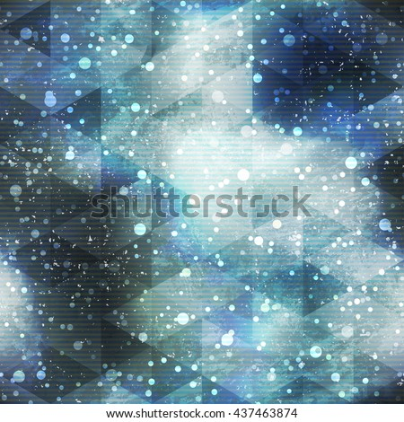 Space seamless pattern with grunge effect
