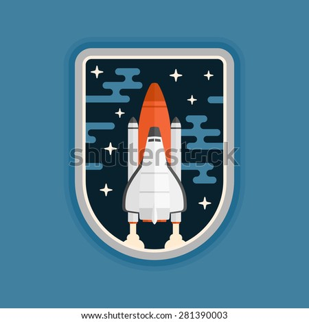 Space shuttle concept vehicle launch badge design