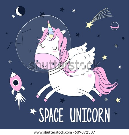 Stock images royalty free images vectors shutterstock for Space unicorn fabric