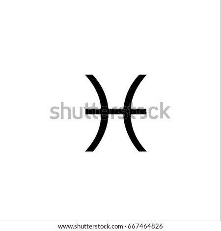Space Symbol Of Pisces Zodiac And Horoscope Concept Vector Art Illustration