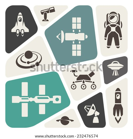 Space theme background - stock vector