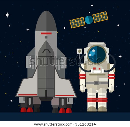 Space travel to Mars infographic. Travel to Mars vector illustration. Vacation time, travel, spaceship, space travel. Space shuttle and astronaut. Planets set. Travel flight to Mars planet infographic - stock vector