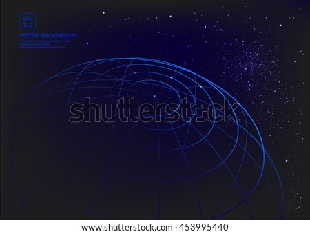 Space vector background lines formed