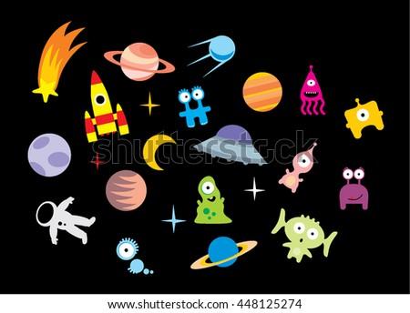 space vector iilustration - stock vector