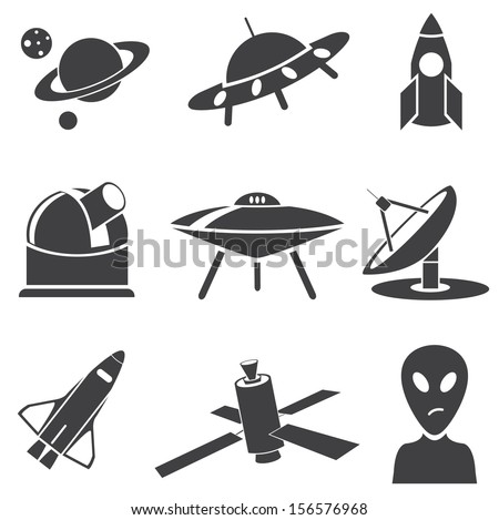 Space. Vector set  - stock vector