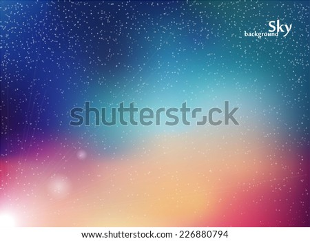 Space with stars. Abstract background. Night sky vector illustration - stock vector