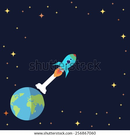 spaceship - stock vector
