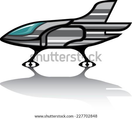Spaceship vector - stock vector