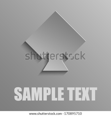 Spades on a gray background - stock vector