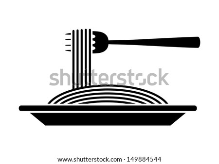 Spaghetti icon - stock vector