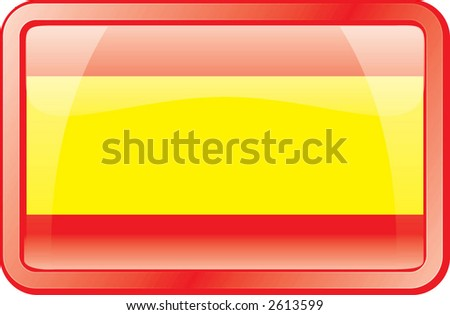 Spain Flag Icon - stock vector