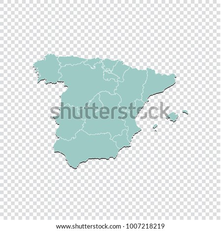 spain map high detailed pastel color map of spain spain map isolated on transparent