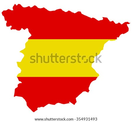Spain map on a white background