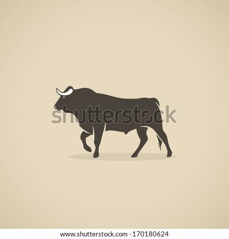 Spanish bull - vector illustration - stock vector