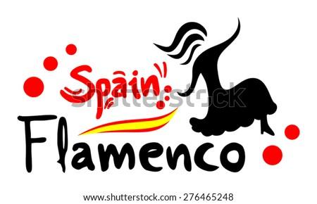 spanish dance - stock vector