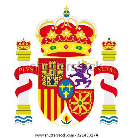 Spanish shield - stock vector