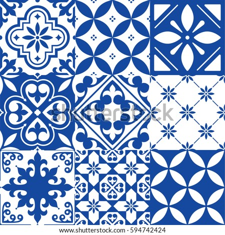 Spanish Tile Vector Stock Images Royalty Free Images
