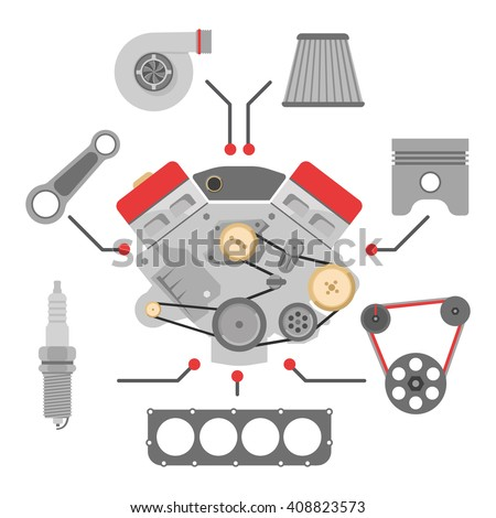 Engine Parts Images RoyaltyFree Images Vectors – Diesel Engines Parts Diagrams And Names