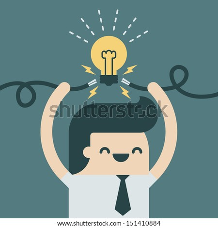 spark Idea - stock vector