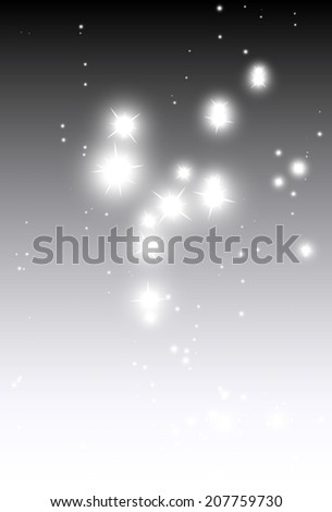 Sparkle fall background vector decoration template - Vector falling festive glitters background illustration - stock vector
