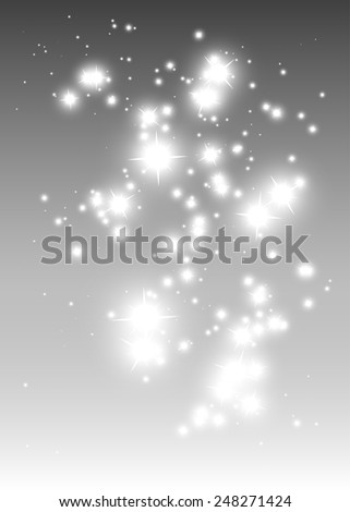 Sparkle falling abstract vector background illustration - Abstract shiny sparkles and glitters vector background illustration - stock vector