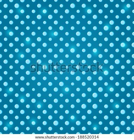 Sparkle Green Blue Polka dot Seamless Pattern Background - stock vector