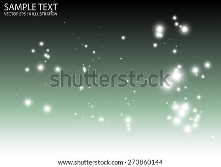 Sparkles falling abstract template vector background illustration - Abstract shiny sparks and glitters vector background illustration - stock vector