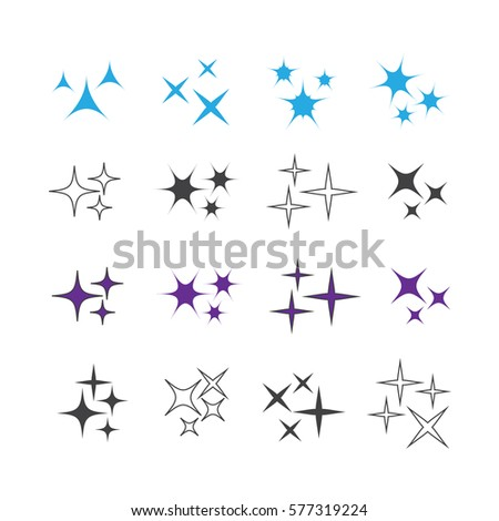 Sparkles icons vector set. Sparkles vector sign