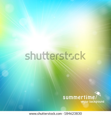 Sparkling bokeh background. Seasonal topic. Eps 10 vector illustration. Used transparency layers and mesh. Easy editable layout - stock vector