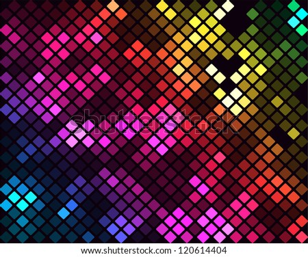 Sparkling Colorful Mosaic