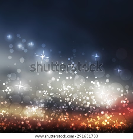 Sparkling Cover Design Template with Abstract, Blurred Background - stock vector