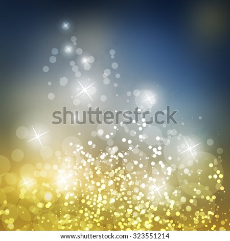 Sparkling Cover Design Template with Abstract, Blurred Background - Cover For Christmas, New Year or Other Designs - stock vector