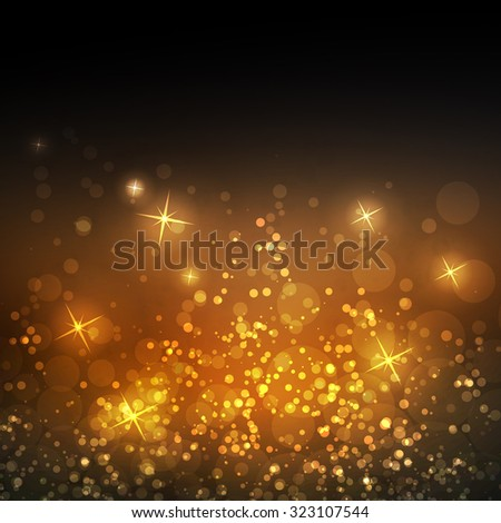 Sparkling Cover Design Template with Abstract, Blurred Background - Cover to Christmas, New Year or Other Designs - stock vector