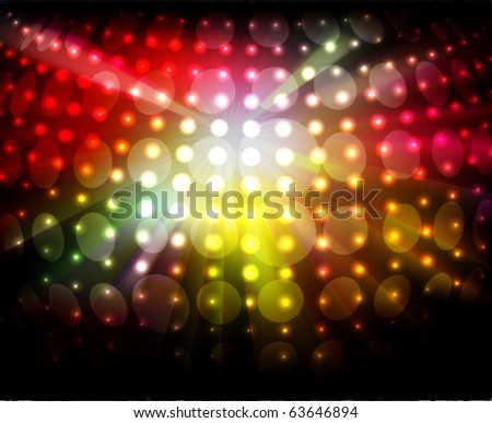 sparkling night- lights - stock vector