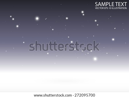 Sparkling purple vector abstract background template - Sparkles and glitters on purple  background illustration - stock vector