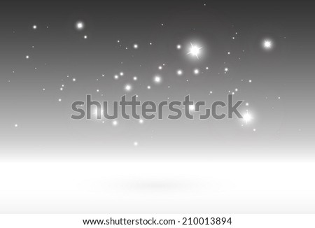 Sparkling snow 3D design vector template - Vector sparks and glitters background illustration - stock vector