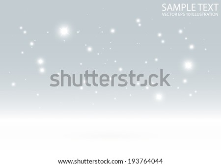 Sparkling winter vector background template - Sparkles and glitters background illustration - stock vector