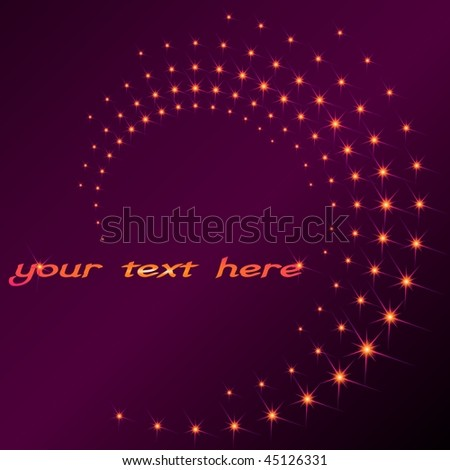 Sparkly spiral (EPS10); a JPG version is also available - stock vector