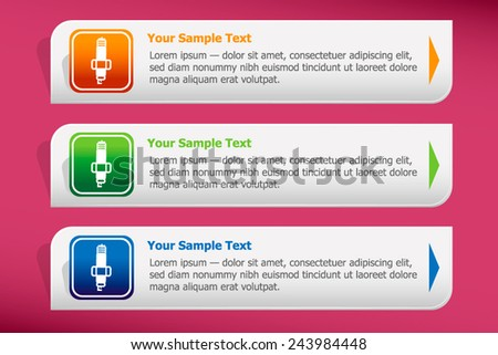 Sparkplug icon and design template vector. Graphic  or website.. - stock vector