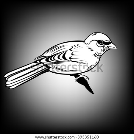 Sparrow, Sparrow,  All elements are in separate layers color can be changed easily