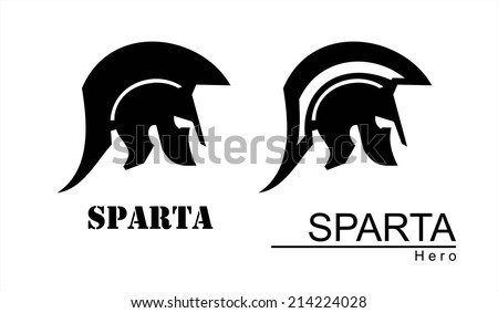 sparta helmet silhouette. Trojan warrior. Historical Sparta concept icon. Antique Rome Emblem. suitable for team mascot, community icon, emblem, product identity, illustration for clothing, etc. - stock vector