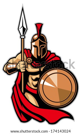 spartan army - stock vector