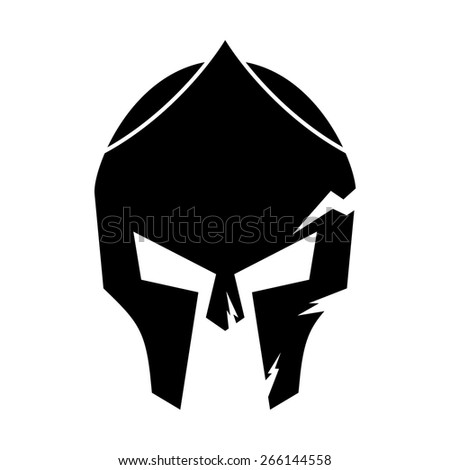 Spartan Helmet Outline Spartan Helmet Stock Vector