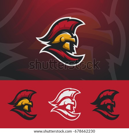 Spartan logo design. Warrior sport team symbol. Eps10 vector.