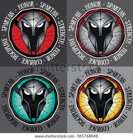 spartan warrior design vector illustration - stock vector