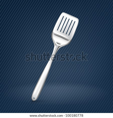 Spatula, mesh - stock vector