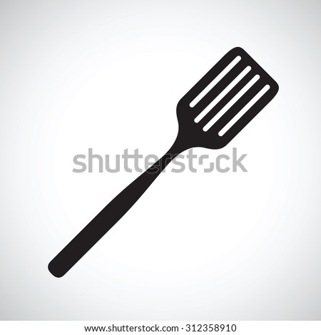spatula silhouette - stock vector