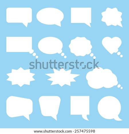 Speach bubbles icons set vector  - stock vector